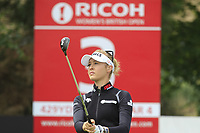 Nelly Korda (USA) on the 3rd tee during Round 3 of the Ricoh Women's British Open at Royal Lytham &amp; St. Annes on Saturday 4th August 2018.<br /> Picture:  Thos Caffrey / Golffile<br /> <br /> All photo usage must carry mandatory copyright credit (&copy; Golffile | Thos Caffrey)