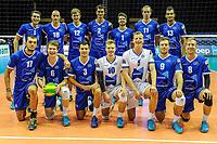 GRONINGEN - Volleybal, Lycurgus - SK Posojilnica Aich/Dob, voorronde Champions League, seizoen 2018-2019, 11-10-2018,  teamfoto Lycurgus