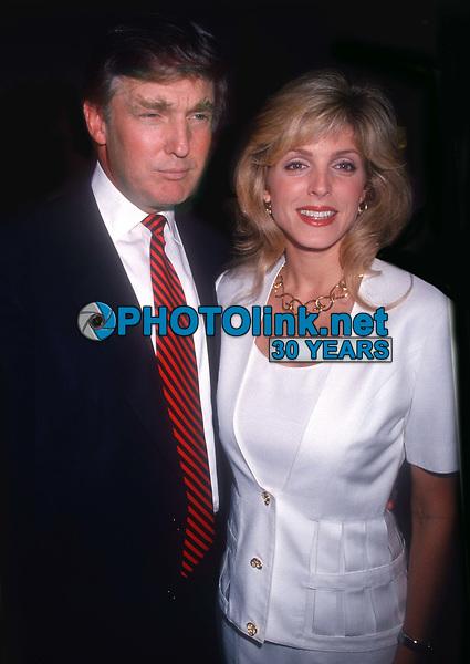 Donald Trump and Marla Maples 1994<br /> Opening of Feregamo Store<br /> Photo By John Barrett/PHOTOlink