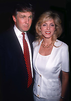 Donald Trump and Marla Maples 1994<br /> Opening of Feregamo Store<br /> Photo By John Barrett/PHOTOlink