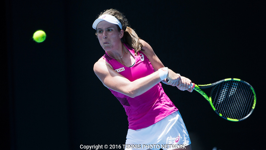 JOHANNA KONTA (GBR)<br /> <br /> TENNIS - GRAND SLAM ITF / ATP  / WTA - Australian Open -  Melbourne Park - Melbourne - Victoria - Australia  - January 2016<br /> <br /> &copy; Tennis Photo Network