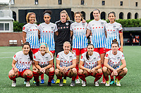 Boston, MA - Friday July 07, 2017: Chicago Red Stars starting eleven during a regular season National Women's Soccer League (NWSL) match between the Boston Breakers and the Chicago Red Stars at Jordan Field.