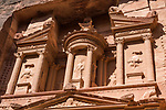 The Treasury or Al Khazneh is a tomb for King Aretas IV Philopatris in the Nabataean city of Petra in the Hashemite Kingdom of Jordan.  Petra Archeological Park is a Jordanian National Park and a UNESCO World Heritage Site.  It was built in beginning of the 1st Century A.D.
