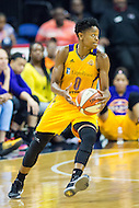 Washington, DC - July 22, 2016: Los Angeles Sparks guard Alana Beard (0) in action during game against the Washington Mystics at the Verizon Center in Washington, DC. (Photo by Phil Peters/Media Images International)