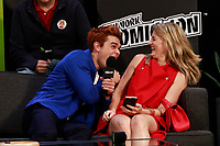 NEW YORK, NY - OCTOBER 7: KJ Apa and Madchen Amick at  SYFY WIRE's Fangirls: Riverdale Cast Interview at the Jacob Jackets Center at the 2018 New York Comic Con in New York City on October 7, 2018. <br /> CAP/MPI99<br /> &copy;MPI99/Capital Pictures