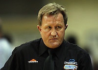 Saints coach Gordon McLeod during the National Basketball League match Wellington Saints and Harbour Heat at TSB Bank Arena, Wellington, New Zealand on Saturday 13 June 2009. Photo: Dave Lintott / lintottphoto.co.nz