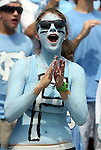 01 September 2012: UNC fan. The University of North Carolina Tar Heels played the Elon University Phoenix at Kenan Memorial Stadium in Chapel Hill, North Carolina in a 2012 NCAA Division I Football game. UNC won the game 62-0.