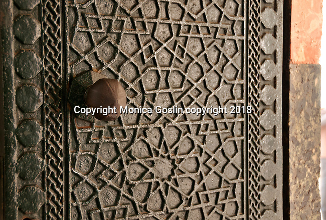 Detail of a door in Topkapi Palace, the 15th century palace where sultans lived for 400 years