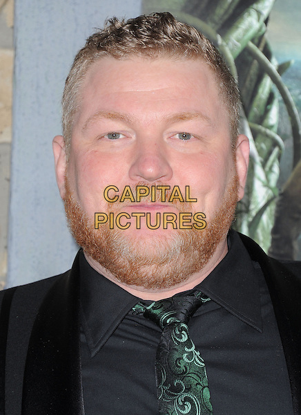 "Dan Studney.""Jack The Giant Slayer"" Los Angeles Premiere held at Grauman's Chinese Theatre, Hollywood, California, USA..February 26th, 2013.headshot portrait black green tie beard facial hair .CAP/RKE/DVS.©DVS/RockinExposures/Capital Pictures."