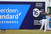 Darren Fichardt (RSA) during the final round of the Aberdeen Standard Investments Scottish Open, Gullane Golf Club, Gullane, East Lothian, Scotland. 15/07/2018.<br /> Picture Fran Caffrey / Golffile.ie<br /> <br /> All photo usage must carry mandatory copyright credit (&copy; Golffile | Fran Caffrey)