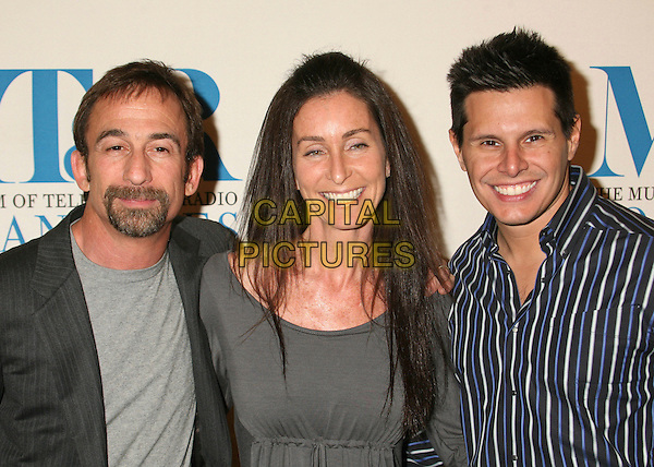 "JIM HAYMAN, SILVIO HORTA & TERI WEINBERG.MT & R's 24th Annual William S. Paley Television Festival, ""Ugly Betty"" at the Directors Guild, West Hollywood, California, USA..March 12th, 2007.headshot portrait .CAP/ADM/BP.©Byron Purvis/AdMedia/Capital Pictures"
