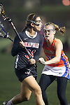 Santa Barbara, CA 02/18/12 - Tory Wilkinson (Chapman #34) and Allison Cordell (Florida #36) in action during the Chapman - Florida matchup at the 2012 Santa Barbara Shootout.  Florida defeated Chapman 12-11.