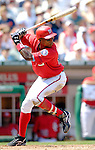 18 June 2006: Alfonso Soriano, left fielder for the Washington Nationals, at bat against the New York Yankees at RFK Stadium, in Washington, DC. The Nationals defeated the Yankees 3-2 in the third game of the interleague series...Mandatory Photo Credit: Ed Wolfstein Photo...