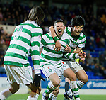 St Johnstone v Celtic...18.12.11   SPL .Gary Hooper celebrates his goal.Picture by Graeme Hart..Copyright Perthshire Picture Agency.Tel: 01738 623350  Mobile: 07990 594431