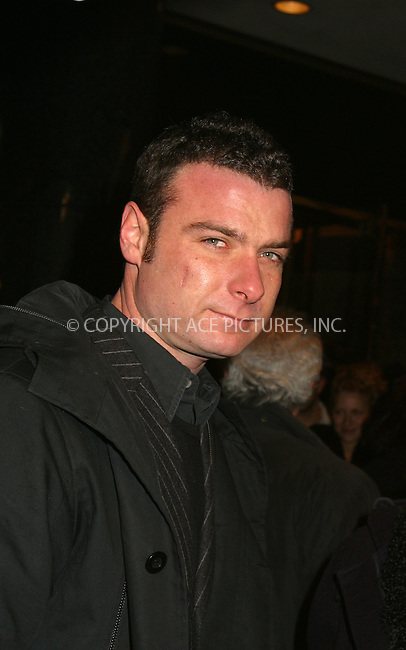 "Liev Schreiber at the opening of ""La Boheme"" on Broadway. New York, December 8, 2002. Please byline: Alecsey Boldeskul/NY Photo Press.   ..*PAY-PER-USE*      ....NY Photo Press:  ..phone (646) 267-6913;   ..e-mail: info@nyphotopress.com"
