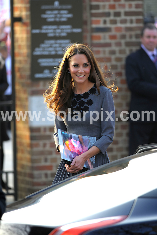 **ALL ROUND PICTURES FROM SOLARPIX.COM**                                             **WORLDWIDE SYNDICATION RIGHTS**                                                                                  Royal visit to Dulwich Picture Gallery..The Prince of Wales, accompanied by Camilla, Duchess of Cornwall and Catherine, Duchess of Cambridge, arrives to see the work of The Prince's Foundation for Children and the Arts at Dulwich Picture Gallery, London.                                                                            This pic:   Catherine Duchess of Cambridge                                                                                           JOB REF:   14570     MSR       DATE:   15.03.12                                                         **MUST CREDIT SOLARPIX.COM OR DOUBLE FEE WILL BE CHARGED**                                                                      **MUST AGREE FEE BEFORE ONLINE USAGE**                               **CALL US ON: +34 952 811 768 or LOW RATE FROM UK 0844 617 7637**