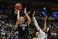 Dallas, TX - Friday March 31, 2017: Alanna Smith during the NCAA National Semifinal Game between the women's basketball teams of Stanford and South Carolina at the American Airlines Center.
