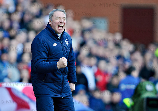Ally McCoist delighted after Rangers third goal