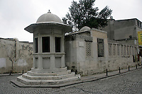 Ottoman architect Sinan's tomb in Istanbul, Turkey