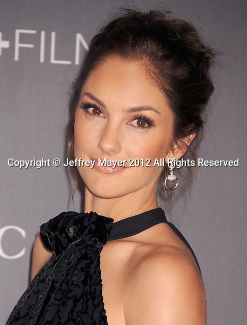 LOS ANGELES, CA - OCTOBER 27: Minka Kelly arrives at LACMA Art + Film Gala at LACMA on October 27, 2012 in Los Angeles, California.