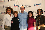Law & Order SVU's Tamara Tunie (As The World Turns) & Christopher Meloni with Olympic skaters Dorothy Hamill & Kristi Yamaguchi & Candace Matthews at Skating with the Stars (celebrities & Olympic skaters), a benefit gala for Figure Skating in Harlem on April 6, 2010 at Wollman Rink, Central Park, New York City, New York. (Photo by Sue Coflin/Max Photos)
