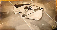 BNPS.co.uk (01202 558833)<br /> Pic: Ratisbons/BNPS<br /> <br /> Emil Buge's observer attempted to repair this hole in the wing during one sortie.<br /> <br /> A personal archive belonging to a hero German pilot of the First World War who fought to bring down the Nazis in the second has been discovered.<br /> <br /> Emil Buge flew on 37 sorties against the British on the Western Front, dropping 27 bombs, 128 grenades and firing 9,500 rounds of ammunition.<br /> <br /> Despite his heroics in 1918, Buge was imprisoned at a murderous concentration camp by his own country in the Second World War as a political prisoner. He used his position as an inmate clerk to gather evidence of SS atrocities.