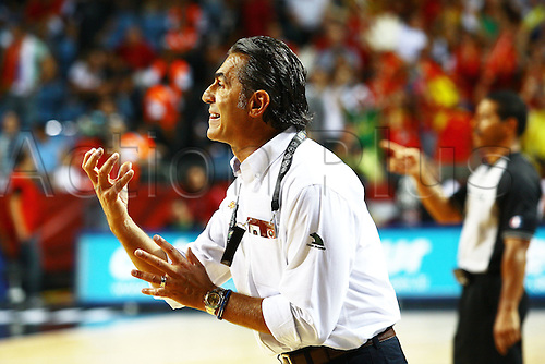 Sep 04, 2010; Istanbul, TURKEY; Defending champions Spain broke open a close game in the fourth quarter and continued their mastery over Greece by winning their Eight-Final showdown at the FIBA World Championship on Saturday. Spain's head coach Sergio Scariolo.