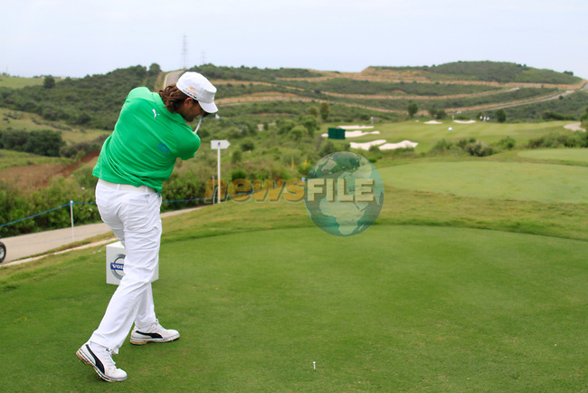 Johan Edfors (SWE) tees off at the 8th tee during Day 2 of the Volvo World Match Play Championship in Finca Cortesin, Casares, Spain, 20th May 2011. (Photo Eoin Clarke/Golffile 2011)