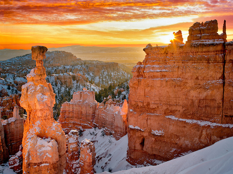 Sunrise at Thor's Hammer. Bryce Canyon National Park, Utah.