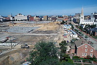 1997 June 05..Redevelopment..Macarthur Center.Downtown North (R-8)..LOOKING WEST.FROM ROTUNDA BUILDING..NEG#.NRHA#..