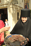Israel, Ein Karem, the Russian Orthodox Visitation Day at Our Lady of Kazan Church in Gorny Convent