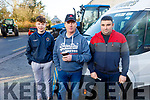 Pa Brosnan, Tom Murphy and Joe Buckley at the James Ashe Memorial Tractor Run in Boolteens on Sunday.