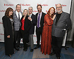 Janet Metz, Stephen Bogardus, Alison Fraser, Michael Rupert, Jonathan Kaplan, Carolee Carmello and William Finn attends the Opening Night After Party for 'Falsettos'  at the New York Hilton Hotel on October 27, 2016 in New York City.