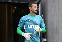 Erwin Mulder of Swansea City prior to kick off of the Carabao Cup Second Round match between MK Dons and Swansea City at StadiumMK, Milton Keynes, England, UK. 22 August 2017