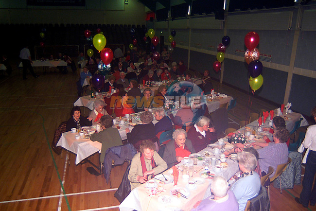 Senior citizen party in the parish centre in Ardee...Pic Tony Campbell/Newsfile