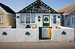 Irish themed property in Brooklands estate Jaywick, Essex, regarded as the most socially deprived community in England.