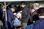 Spectators pass through the security check before the royal parade to mark the enthronement of Japanese Emperor Naruhito in Tokyo, Japan on Sunday, November 10, 2019. (Photo by AFLO)