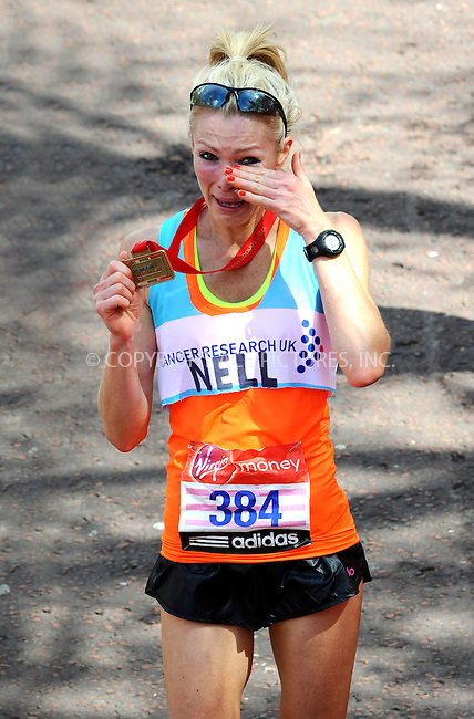 WWW.ACEPIXS.COM . . . . .  ..... . . . . US SALES ONLY . . . . .....April 22 2012, London....Nell McAndrew at The 2012 Virgin London Marathon on April 22 2012 in London....Please byline: FAMOUS-ACE PICTURES... . . . .  ....Ace Pictures, Inc:  ..Tel: (212) 243-8787..e-mail: info@acepixs.com..web: http://www.acepixs.com