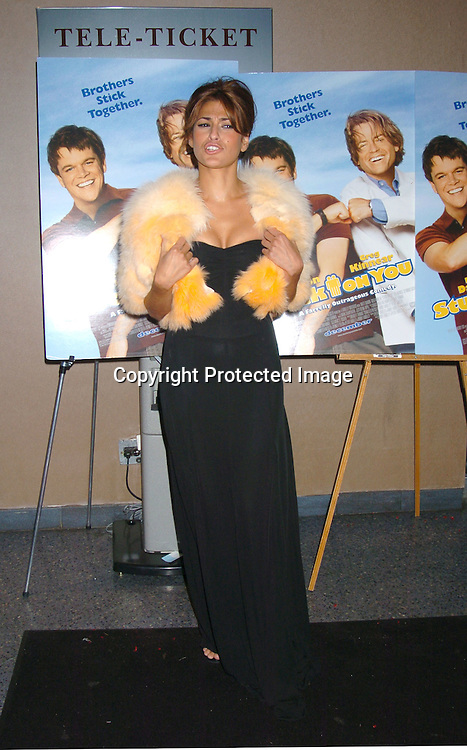 """Eva Mendes..at a Special Screening of """"Stuck On You"""" on December 8, 2003 at the Chelsea West Theatre. Photo by Robin Platzer, Twin Images"""