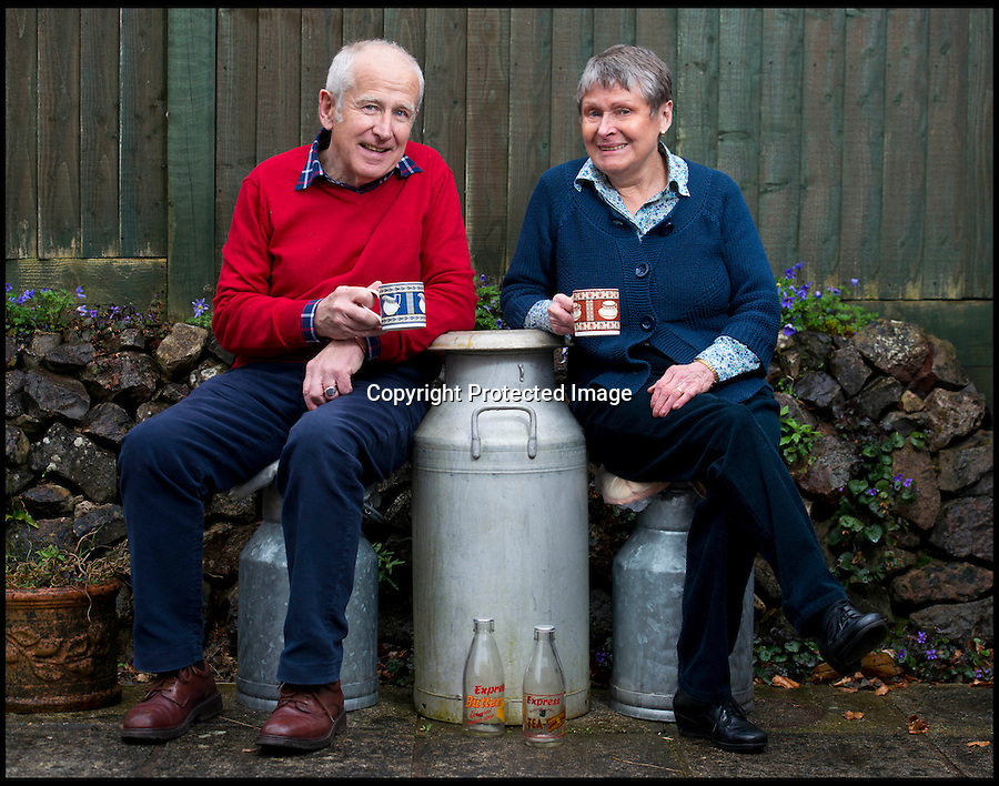 BNPS.co.uk (01202 558833)<br /> Pic: RachelAdams/BNPS<br /> <br /> Peter with long-suffering wife Val.<br /> <br /> In a glass of his own...<br /> <br /> Dairy-daft Peter Hayward is udderly devoted to his bizarre hobby - collecting vintage milk bottles.<br /> <br /> The 70-year-old has devoted the last 30 years to building up a whopping collection of more than 1,000 bottles.<br /> <br /> Peter, a former dairy worker, scours the south west of Britain in search of rare bottles emblazened with the colourful logos of old dairies.<br /> <br /> And since retiring 16 years ago his collection has swelled so much that he has been forced to turn his garage into a mini museum.<br /> <br /> Peter's obsession with milk started as a 10-year-old when he helped his local milkman on his weekend rounds to earn some pocket money.<br /> <br /> He later joined Express Dairies as a distribution manager, working alongside hundreds of independent dairy farmers.<br /> <br /> When he retired in the late 1990s Peter had amassed a sizeable collection in his office - and decided to devote his free time to growing it.