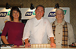 07-02-06 Chef Neven Maguire cookery demonstration in conjunction with Flogas held in the Kilmore Hotel, Cavan..Kathleen McGrath, Rathcorick, Cavan and Susan Donohoe, Fairtown Cavan pictured with Neven Maguire.Photo:Barry Cronin/Newsfile.
