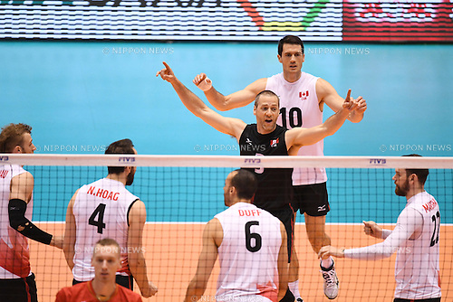 Canada team group (CAN), <br /> JUNE 2, 2016 - Volleyball :<br /> Men's Volleyball World Final Qualification for the Rio de Janeiro Olympics 2016<br /> match between France 3-0 Canada <br /> at Tokyo Metropolitan Gymnasium, Tokyo, Japan.<br /> (Photo by AFLO SPORT)
