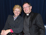 Margaret Dolan and Mon. Jim Carroll pictured in the Medical Missionary of Mary auditorium for the presentation to Fr Emlyn McGinn. Photo:Colin Bell/pressphotos.ie
