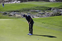 Hunter Mahan (USA) putts on the 4th green at Spyglass Hill during Thursday's Round 1 of the 2018 AT&amp;T Pebble Beach Pro-Am, held over 3 courses Pebble Beach, Spyglass Hill and Monterey, California, USA. 8th February 2018.<br /> Picture: Eoin Clarke | Golffile<br /> <br /> <br /> All photos usage must carry mandatory copyright credit (&copy; Golffile | Eoin Clarke)