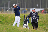 Tyrrell Hatton (ENG) on the 4th during Round 4 of the Alfred Dunhill Links Championship 2019 at St. Andrews Golf CLub, Fife, Scotland. 29/09/2019.<br /> Picture Thos Caffrey / Golffile.ie<br /> <br /> All photo usage must carry mandatory copyright credit (© Golffile | Thos Caffrey)