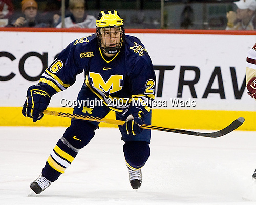 Danny Fardig (Michigan 26) - The University of Michigan Wolverines defeated the Boston College Eagles 4-3 in overtime in the opening game of the Ice Breaker Tournament on Friday, October 12, 2007, at the Xcel Energy Center in St. Paul, Minnesota.