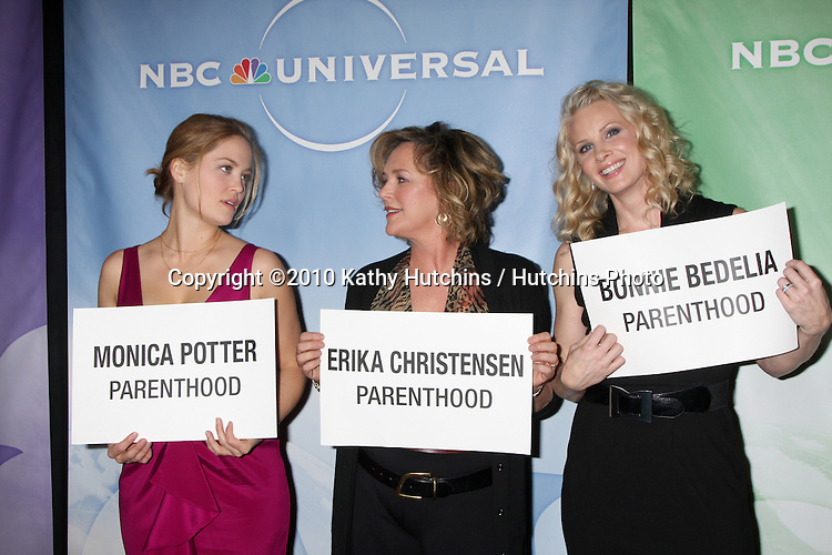 Erika Christensen, Bonnie Bedelia, Monica Potter.arriving at the 2010 Winter NBC TCA Party .Langford Hotel.Pasadena, CA.January 10, 2010.©2010 Kathy Hutchins / Hutchins Photo....