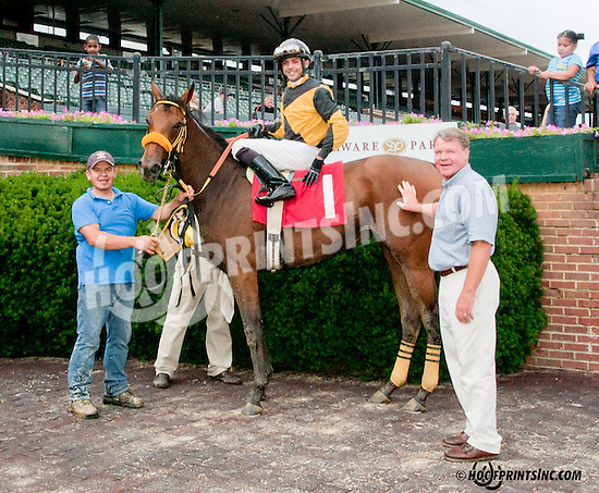 C C Gold winning at Delaware Park on 7/1/13