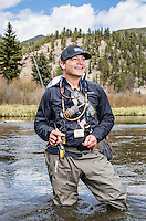 The Broadmoor Hotel's Fish Camp Manager Scott Tarrant while fishing near Colorado Springs, Colorado, Monday, May 4, 2015. <br /> <br /> Photo by Matt Nager