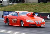 Jul. 18, 2014; Morrison, CO, USA; NHRA pro stock driver Steve Kalkowski during qualifying for the Mile High Nationals at Bandimere Speedway. Mandatory Credit: Mark J. Rebilas-